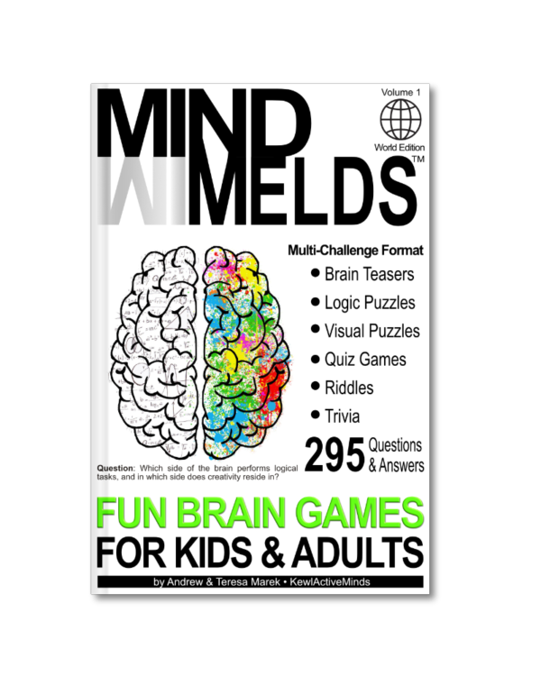 MindMelds Vol1, World Edition - Fun Brain Games for Kids and Adults