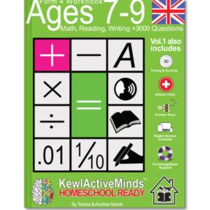 HomeSchool Ready Form 4 Workbook UK Edition Math Reading Writing