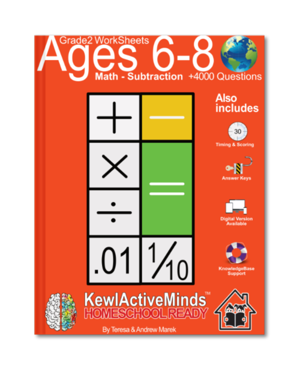 HomeSchool Ready Grade 2 Worksheets Math Subtraction