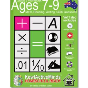 omeSchool Ready Grade 3 Workbook Australian Edition Math Reading Writing