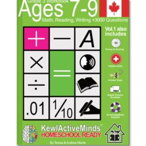 omeSchool Ready Grade 3 Workbook Canadian Edition Math Reading Writing