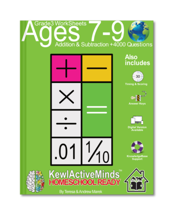 HomeSchool Ready Grade 3 Worksheets Math Addition and Subtraction