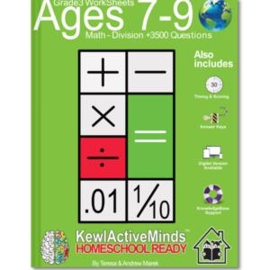 HomeSchool Ready Grade 3 Worksheets Math Division
