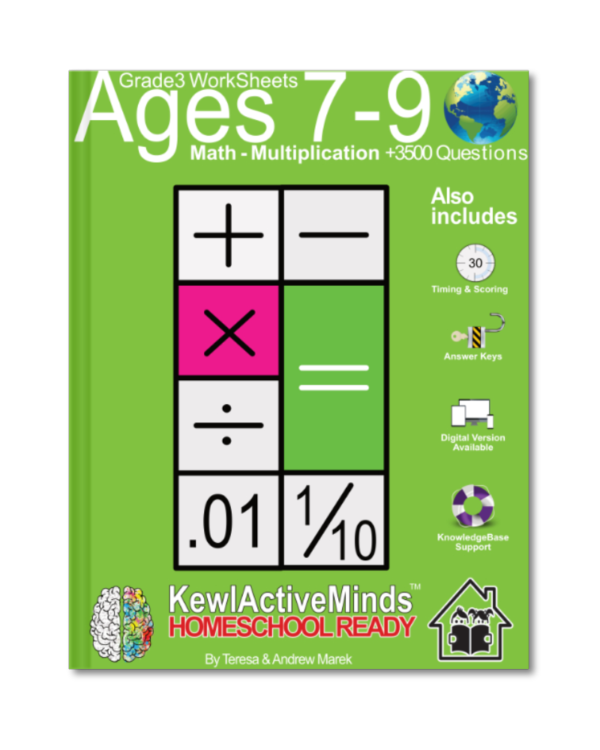 HomeSchool Ready Grade 3 Worksheets Math Multiplication