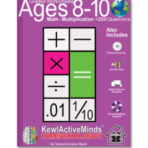 HomeSchool Ready Grade 4 Worksheets Math Multiplication