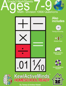KewlActiveMinds Grade 3 Ages 7-9 Worksheet Math Division