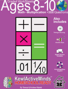 KewlActiveMinds Grade 4 Ages 8-10 Worksheets Math Multiplication