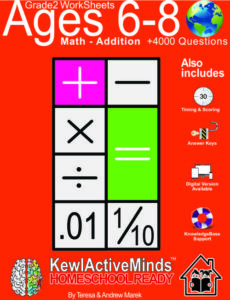 KewlActiveMinds Grade 2 Ages 6-8 Worksheet Math Addition