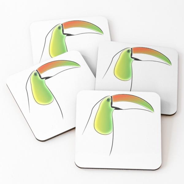 KewlActiveMinds Pura Vida Toucan Drink Coasters 1