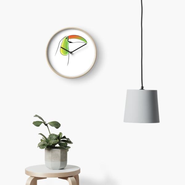 KewlActiveMinds Pura Vida Toucan Wall Clock 1