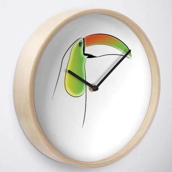 KewlActiveMinds Pura Vida Toucan Wall Clock 2