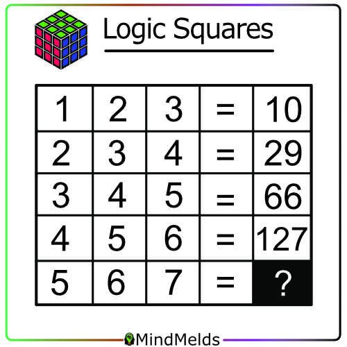 Math Puzzles Mindmelds - KewlActiveMinds Logic Squares Brainteaser