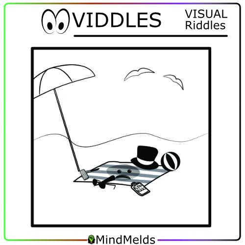 VIDDLES Visual Riddle Mindmelds KewlActiveMinds - Snowman At The Beach