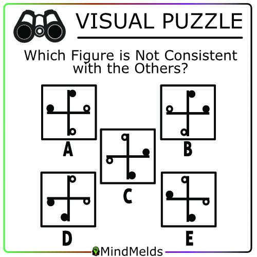 Daily Visual Puzzle Mindmelds - Logic Puzzles Brainteaser Brain Game